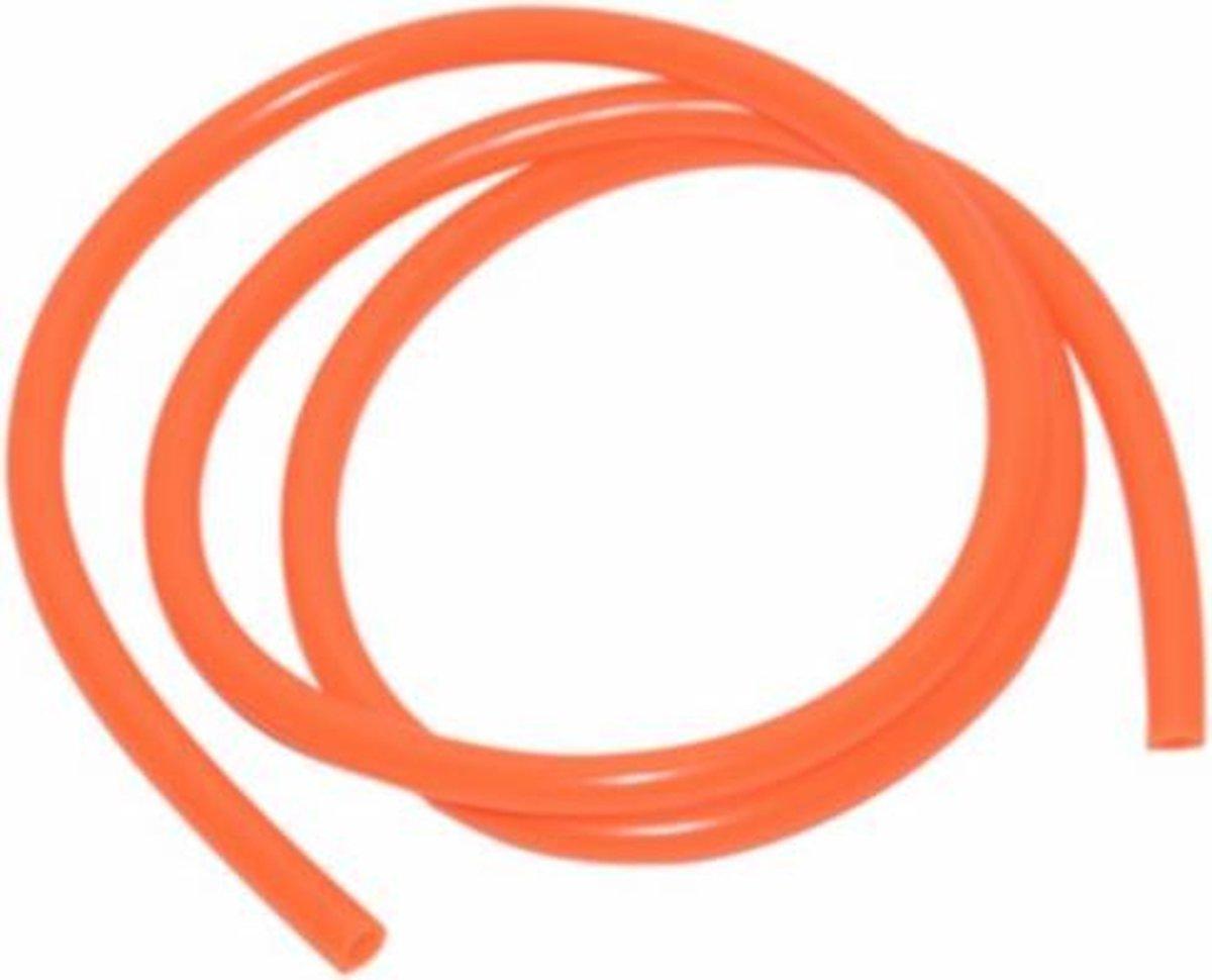 Benzineslang 5x8mm oranje per rol 1m