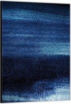 Dibond –Blauwe Spikkeltjes– 80x120cm Foto op Aluminium (Wanddecoratie van metaal)