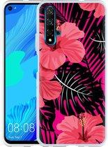 Huawei Nova 5T Hoesje Tropical Flowers