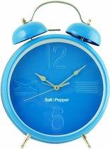 Salt&Pepper Zone Klok - 25 cm - Wekkerfunctie - blauw
