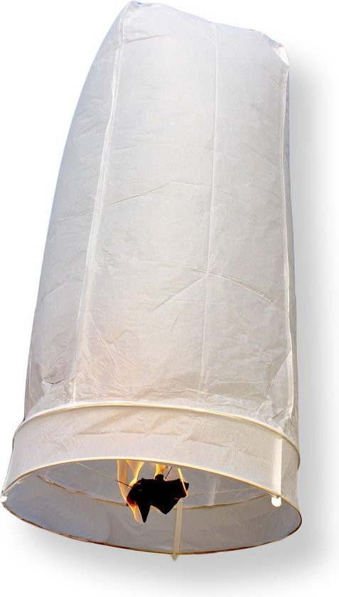 Witte wensballonnen 2 stuks - 50 x 100 cm - bestaan uit 1 geheel