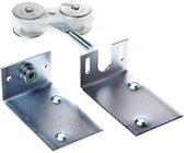 hangrol met platen staal voor 290 per stuk
