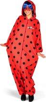VIVING COSTUMES / JUINSA - Ladybug kostuum met accessoires voor volwassenen - XS - Volwassenen kostuums