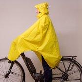 LOWLAND OUTDOOR® fietsponcho 100% waterdicht (10.000mm) - ademend (8.000g/M²) PFAS vrij! - Geel