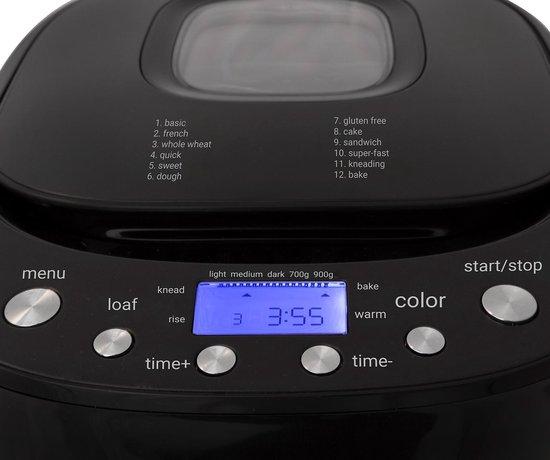 Tomado TBM9001B - broodbakmachine - 900 gram - display - matzwart