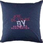 Kardol & Verstraten Joie de Vivre - Sierkussen - 50x50 cm - Blue