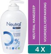 Neutral Hand Wash Vloeibare Zeep - Handzeep - 4 x 250 ml Voordeelverpakking