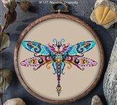 Borduurpakket MANDALA LIBELLE (dragonfly 537)