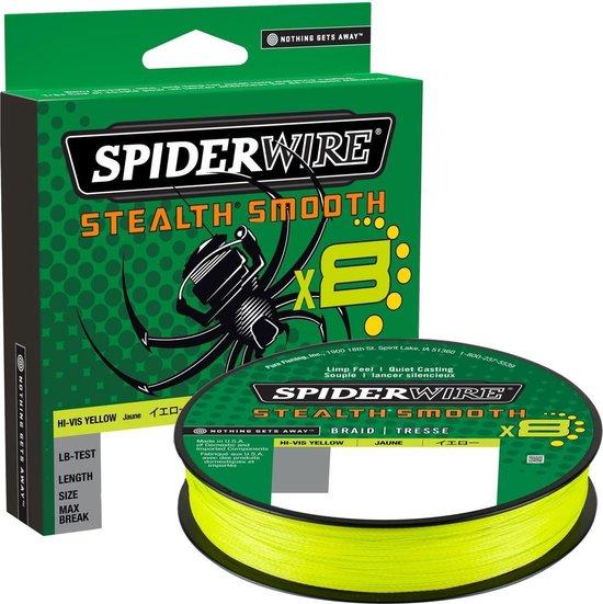 Spiderwire | stealth smooth x8 | HI-VIS Yellow | gevlochten lijn | 0.13 mm | 12.7 kg | 150 meter