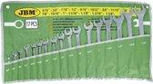 JBM Tools | Steek/Ringsleutel set | 17-Delig INCH combi moersleutels|