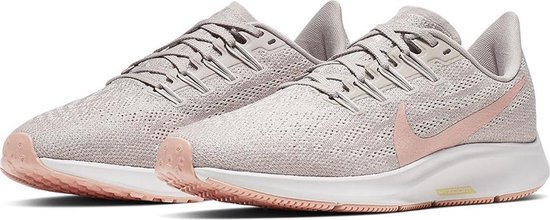 Nike Wmns Nike Air Zoom Pegasus 36 Dames Sportschoenen - Pumice/Pink  Quartz-Vast Grey-Celestial Gold
