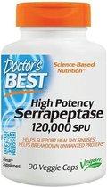 DOCTORS BEST Doctor's Best SERRAPEPTASE - 120.000 SPU – 90 capsules