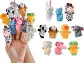 Vrolijke Dieren Vingerpopjes - Set Van 10 Verschillende Vinger Poppen - Hand Poppenspel - Animal Finger Toys Poppenset