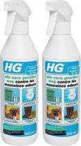 HG alle nare geurtjes weg | effectieve geurverwijderaar | 2 Stuks !
