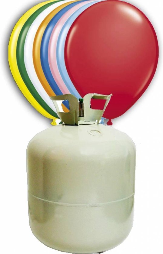 Helium Tank met 100 ballonnen en lint