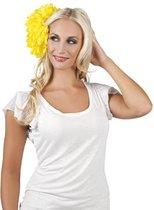 Haarbloem Geel 20cm