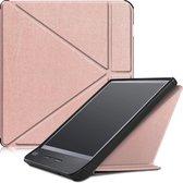 Kobo Libra H2O hoesje - Tri-Fold Book Case - Rosé Goud
