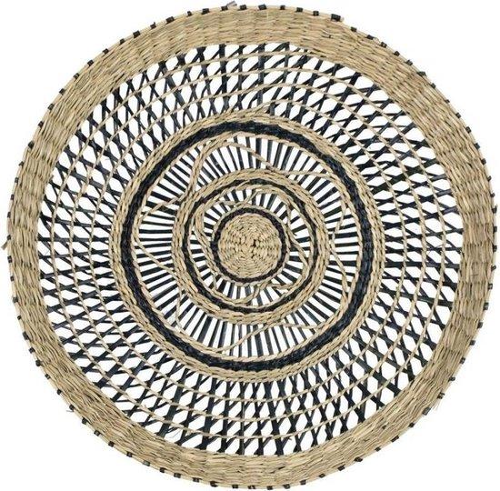 Opengewerkt Zwart Muurmandje van Zeegras (40 cm)