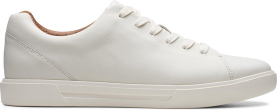 Clarks Un Costa Lace Heren Sneakers - White Leather - Maat 47