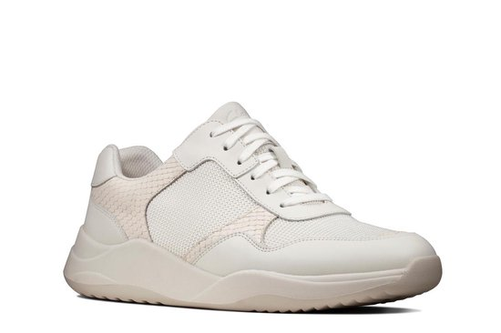 Clarks Sift Lace Dames Sneakers - White Combi - Maat 41 Vr9J433X