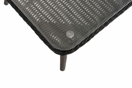 Clp Skara Loungeset - 5mm rond Polyrotan zwart - antraciet 40 cm (donkergrijs)