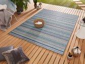 Binnen & buiten vloerkleed Bamboo - blauw 120x170 cm