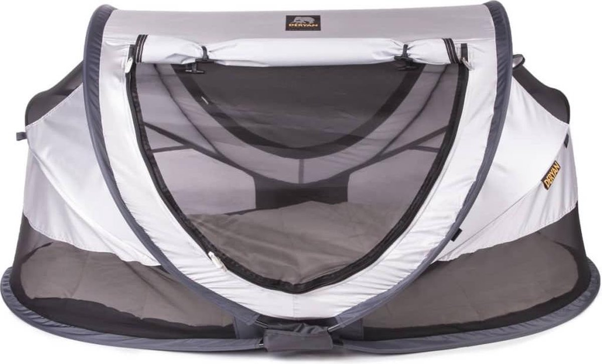Deryan Peuter Luxe Campingbedje   Inclusief zelfopblaasbare matras - Silver - 2021