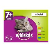 Whiskas 7+ Senior Multipack Maaltijdzakjes - Mix in Gelei - Kattenvoer - 48 x 100g