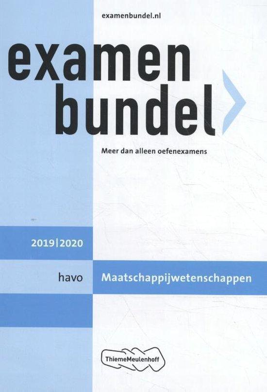 Examenbundel havo Maatschappijwetenschappen 2019/2020