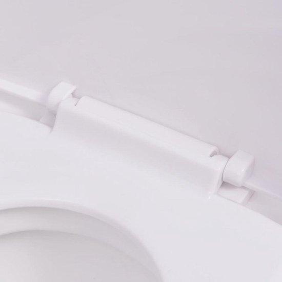 vidaXL Hangend toilet keramiek wit