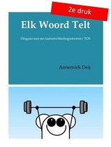 Boek cover Elk woord telt van Annemiek Deij