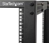 StarTech.com 25U open-frame server rack kast met 4 stijlen met instelbare diepte incl. zwenkwielen/stelpoten en kabelhaken