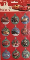 Cars 3D kerst stickers