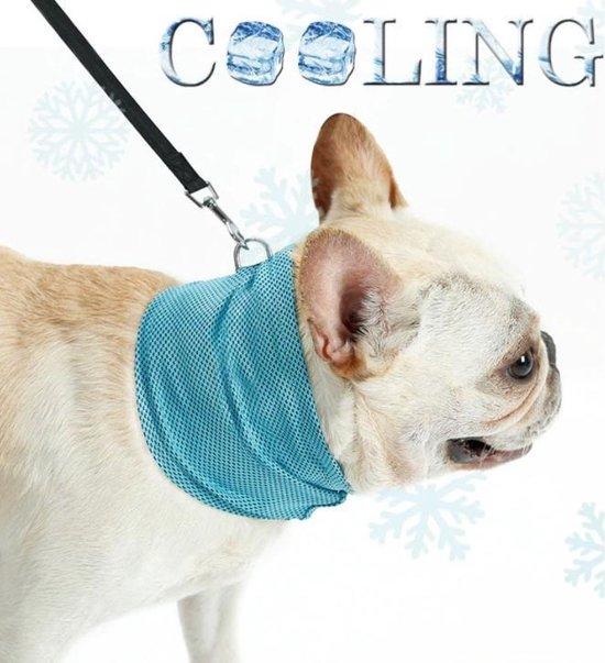 Verkoelende Honden Halsband - Koelhalsband - Cooling bandana - Blauw - Klein - Size S