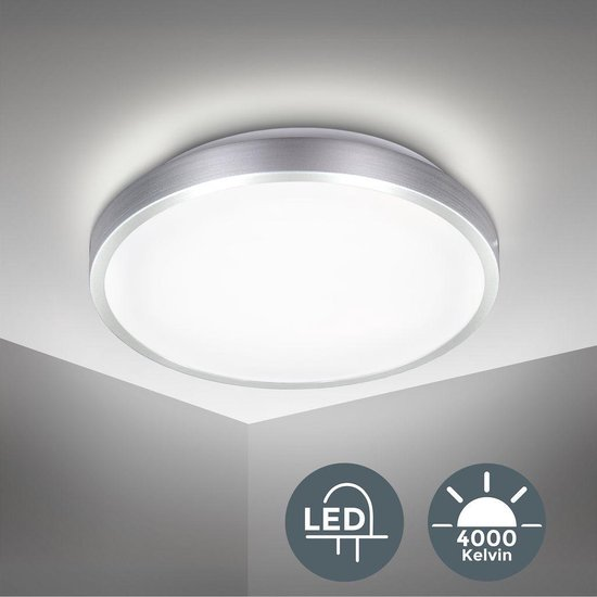 Bol Com B K Licht Led Plafondlamp Plafonniere Neutraal Wit Licht O29cm Kantoor