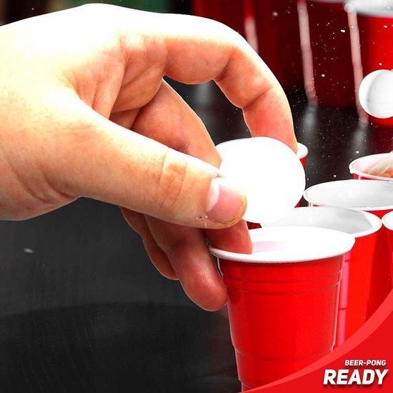 Thumbnail van een extra afbeelding van het spel 180 Mini rode plastic beerpong bekers, shot size (60ml), 10 mini-bierpongballen! - Extra sterke kwaliteit American Shot Cups - herbruikbare en wegwerpbare bekers voor Shots Parties Kerstmis Nieuwjaarsfeest