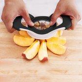 Appel slider | Appel snijden | Eenvoudig appel snijden | Zwarte appel snijder | gesneden appels apparaat | fruitsnijder