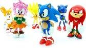 Sonic Sega Speelfiguren - Sonic en Tails actiefiguren - 7 cm 6 stuks - Tails, Knuckles, Super Sonic, Metal Sonic, Amy - Sonic Speelgoed