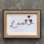 Schilderijtje 3D. LOVE. 16 x 21 cm.