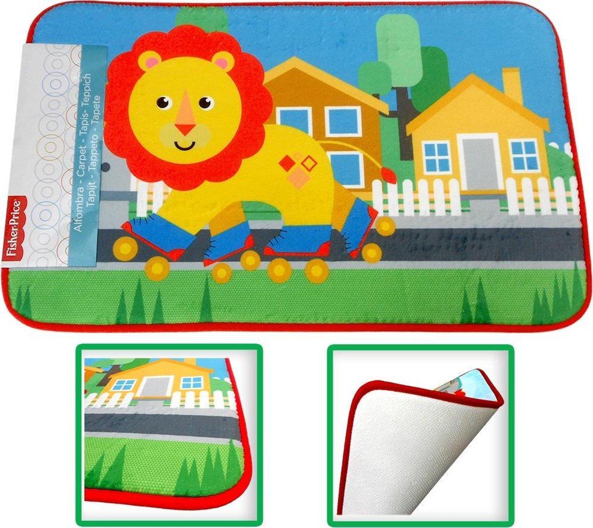 Fisher Price Leeuw speelkleed tapijtje baby - super zacht materiaal - 45 x 75 cm groot