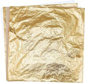 100X Bladmetaal Goud - Imitatie Bladgoud - Slagmetaal in Goudkleur - Metaalfolie - Grote Vellen - 16x16cm - 100 Stuks