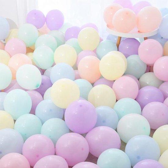 Pastel Ballonnen - 100 Stuks - Kleuren Mix