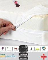 Homéé® Waterdicht Matrasbeschermerhoes PU 90x200+20/22cm nanotech-stof 100% bedwerende   Polyester Jersey