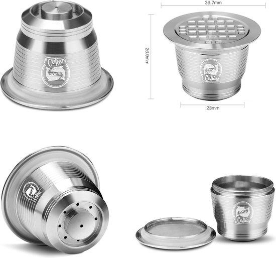 Hervulbare cups  - Capsules navulbaar - RVS