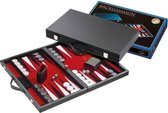 Backgammon Koffer Medium Standaard (Rood)