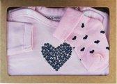 Noppies Cadeauset 4 - Biologische Babykleding Set Roze Shirt en Sokken - Maat 44