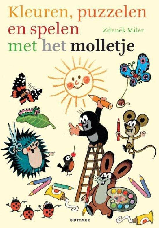 Molletje - Kleuren, knutselen en spelen met Molletje - Zdenêk Miler  