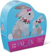 Crocodile Creek mini puzzel Bunny Love 12 stukjes