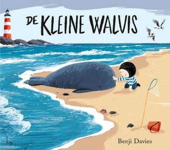 Boek cover De kleine walvis van Benji Davies (Hardcover)