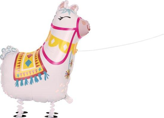 UNIQUE - Aluminium wandelende lama ballon - Decoratie > Ballonnen